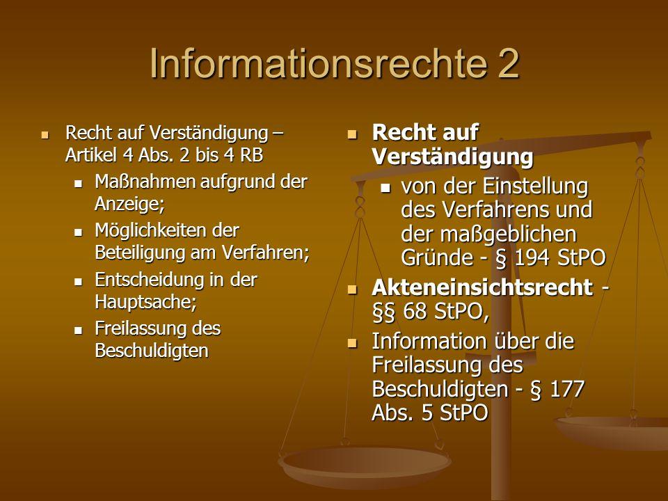 Informationsrechte 2 Recht auf Verständigung – Artikel 4 Abs.