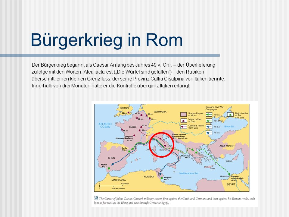 Überblick III 48 v. Chr: Sieg über Pompeius 48 v. Chr: 2. Konsulat und Diktator für ein Jahr