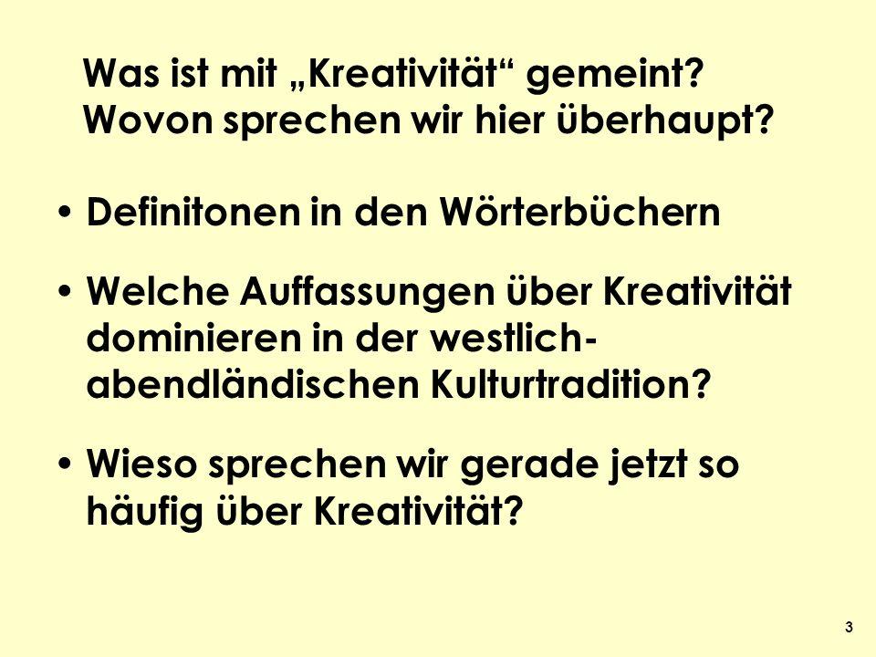 34 Kreativität und Wissenskunst Versuch über eine Entwick- lungsrichtung von Wissen- schaft und deren Bedeutung für eine neue Pädagogik Frankfurt/M.