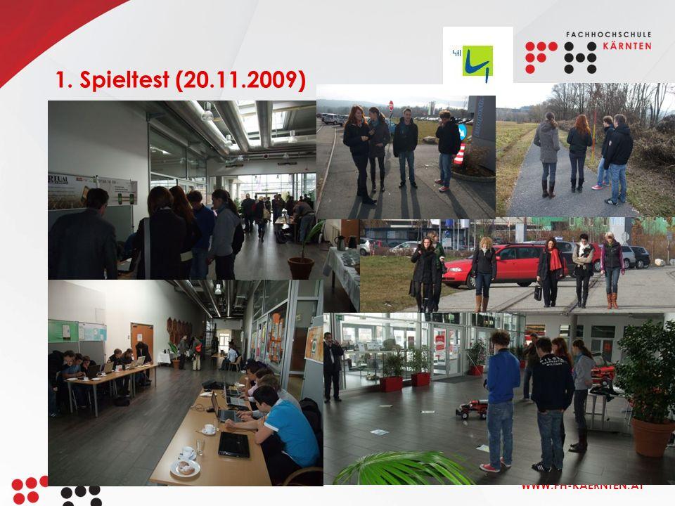 WWW.FH-KAERNTEN.AT 1. Spieltest (20.11.2009)