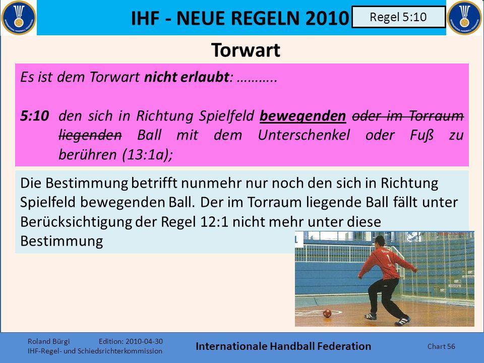 IHF - NEUE REGELN 2010 Weitere nennenswerte Änderungen oder Ergänzungen Internationale Handball Federation Chart 55 Diverse Harpastum, die römische Fo