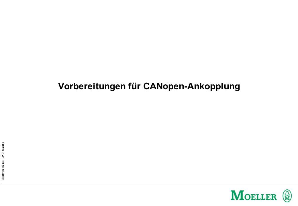 Schutzvermerk nach DIN 34 beachten Vorbereitungen für CANopen-Ankopplung