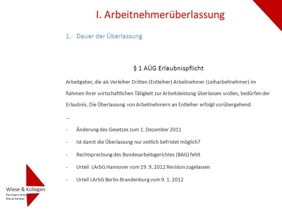 LAG Hannover: Der Dauerverleih von AN im Rahmen einer wirtschaftlichen Tätigkeit ist seit der Neufassung des AÜG vom 20.