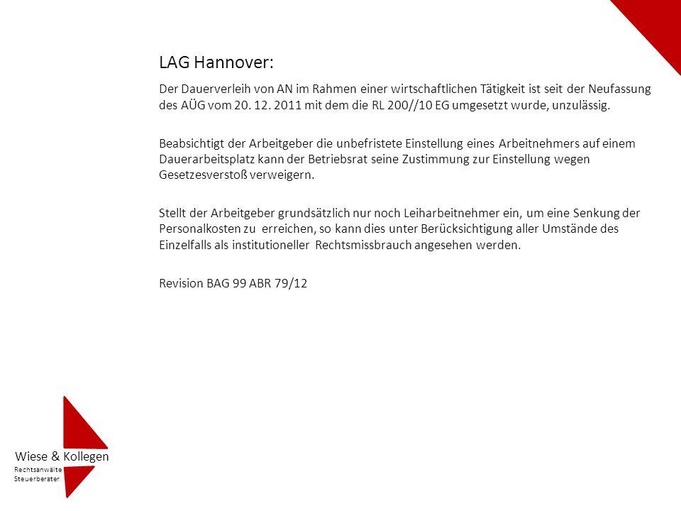 LAG Berlin – Brandenburg Ab dem 1.Dezember 2011 ist § 1 Abs.