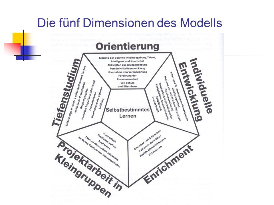 Die fünf Dimensionen des Modells