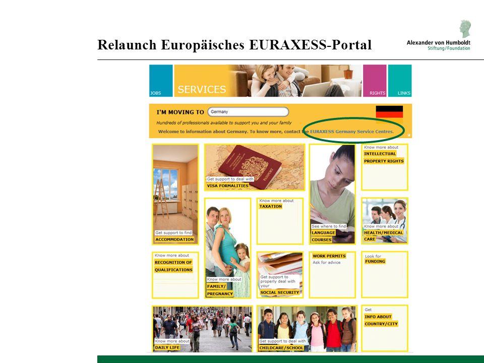 Relaunch Europäisches EURAXESS-Portal