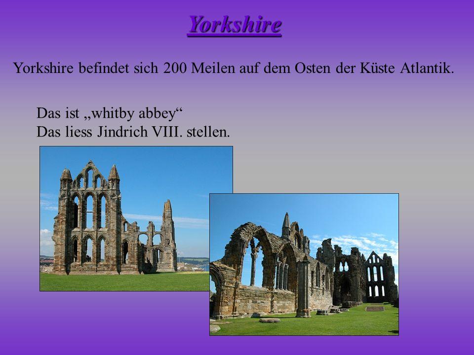 Yorkshire befindet sich 200 Meilen auf dem Osten der Küste Atlantik. Yorkshire Das ist whitby abbey Das liess Jindrich VIII. stellen.
