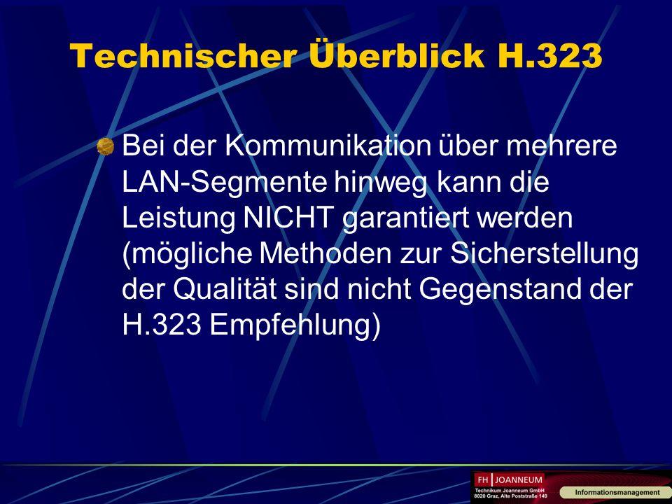 Bei der Kommunikation über mehrere LAN-Segmente hinweg kann die Leistung NICHT garantiert werden (mögliche Methoden zur Sicherstellung der Qualität si