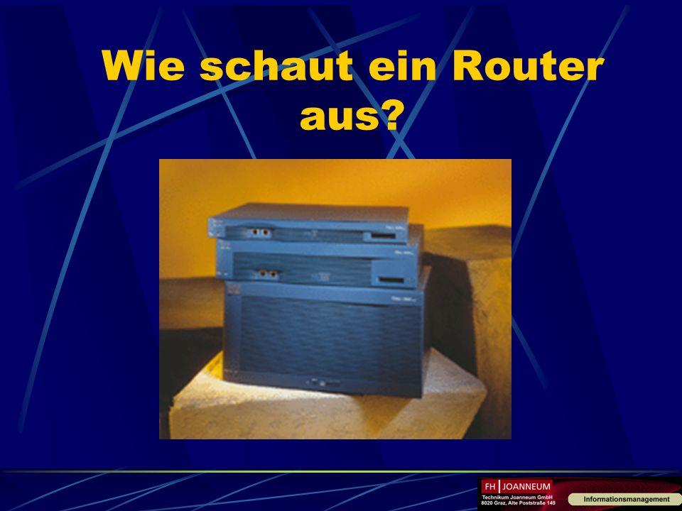 Wie schaut ein Router aus?