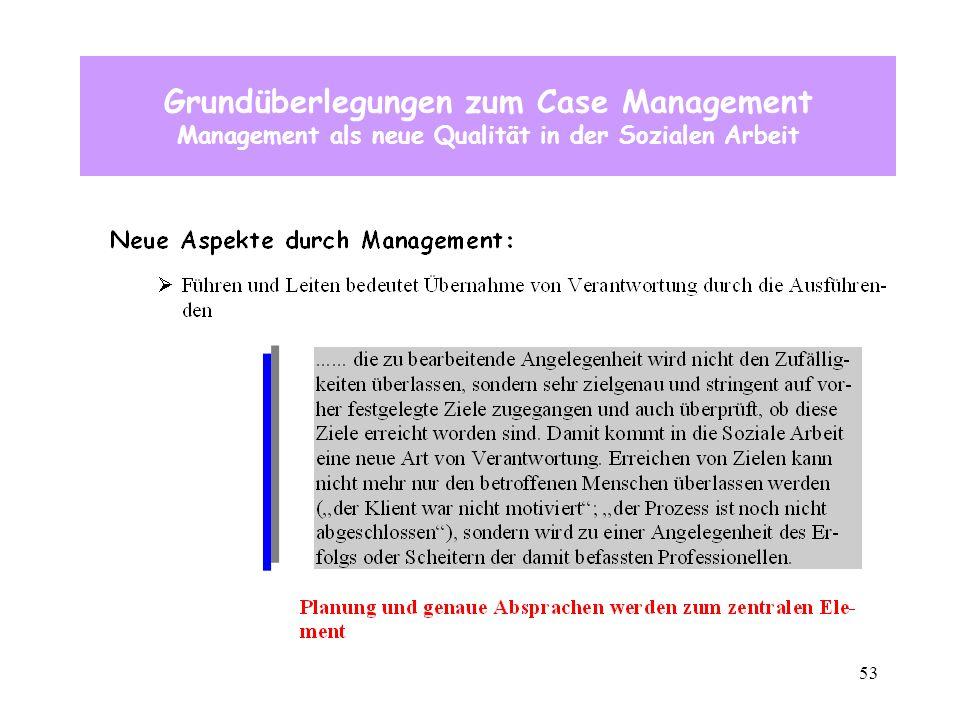 53 Grundüberlegungen zum Case Management Management als neue Qualität in der Sozialen Arbeit