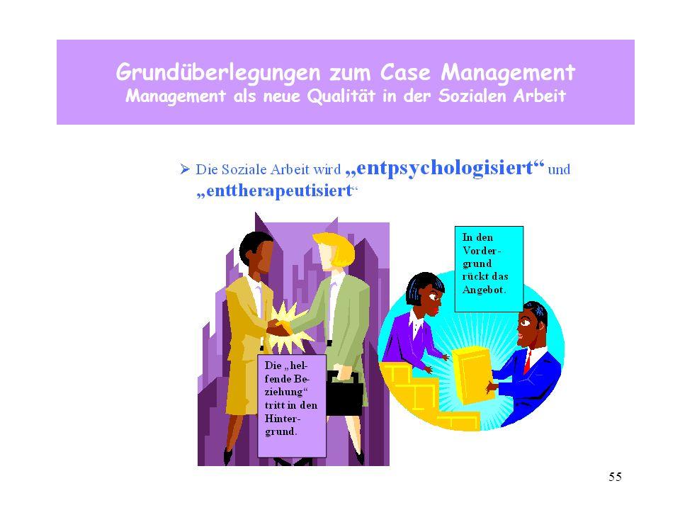 55 Grundüberlegungen zum Case Management Management als neue Qualität in der Sozialen Arbeit