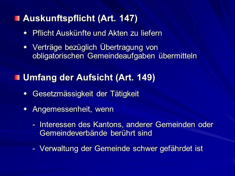 Auskunftspflicht (Art. 147) Pflicht Auskünfte und Akten zu liefern Pflicht Auskünfte und Akten zu liefern Verträge bezüglich Übertragung von obligator