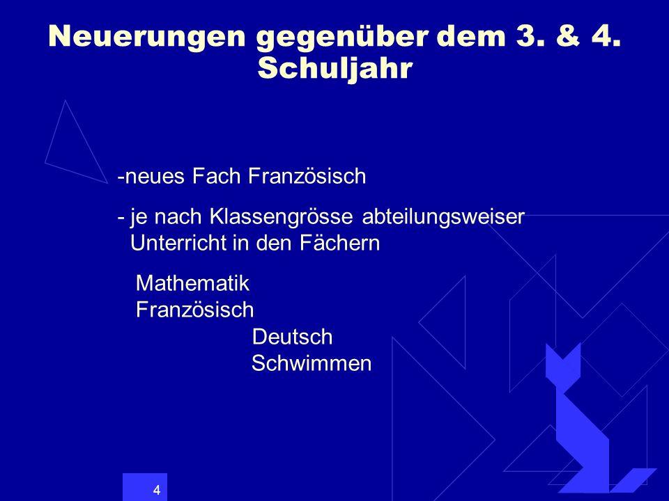 5 Neuerungen im 5.& 6. Schj.