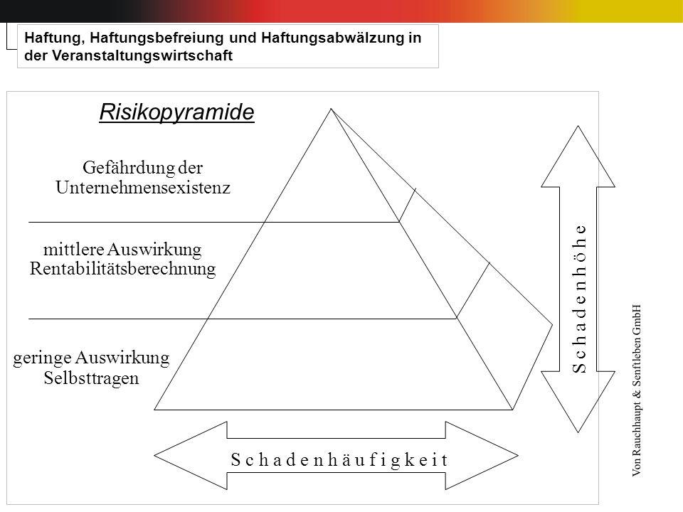 Risikopyramide S c h a d e n h ä u f i g k e i t S c h a d e n h ö h e geringe Auswirkung Selbsttragen mittlere Auswirkung Rentabilitätsberechnung Gef