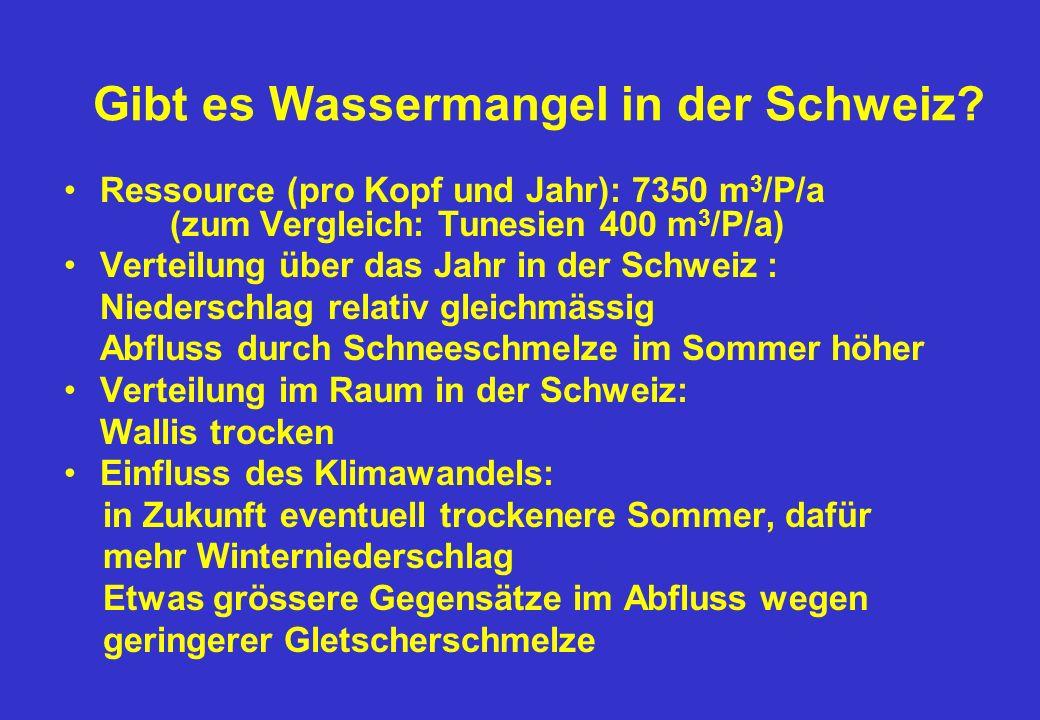 Gibt es Wassermangel in der Schweiz.