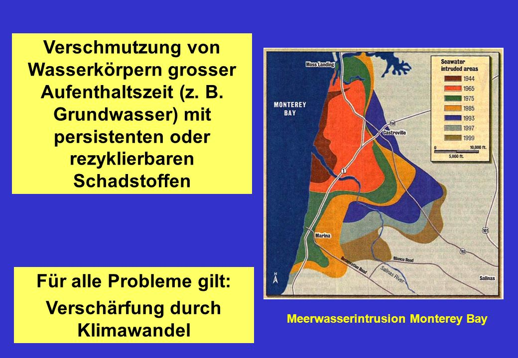 Verschmutzung von Wasserkörpern grosser Aufenthaltszeit (z.