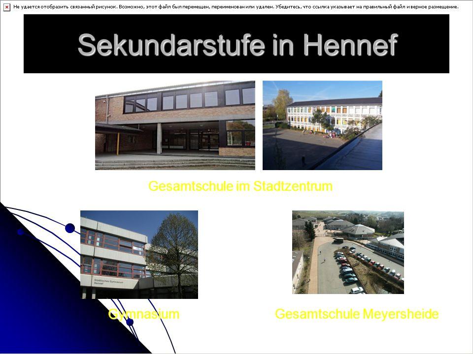 Sekundarstufe in Hennef Gesamtschule im Stadtzentrum Gesamtschule Meyersheide Gymnasium