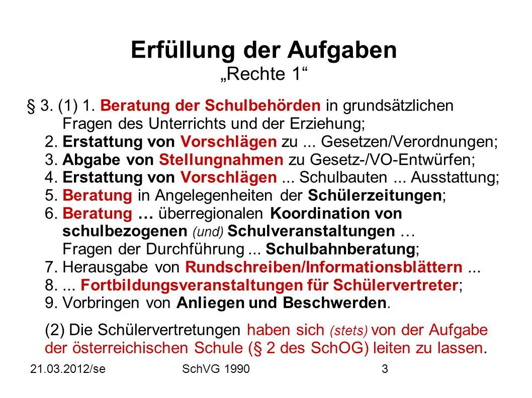 21.03.2012/seSchVG 199014 Bundesschulsprecher, Stellvertreter § 22.