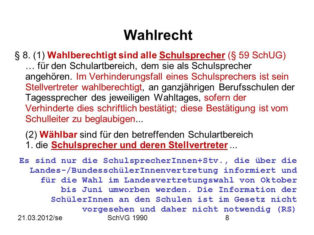 21.03.2012/seSchVG 19908 Wahlrecht § 8.