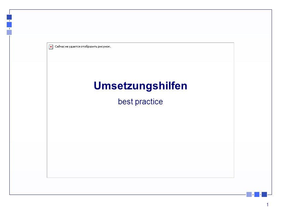 1 Umsetzungshilfen best practice
