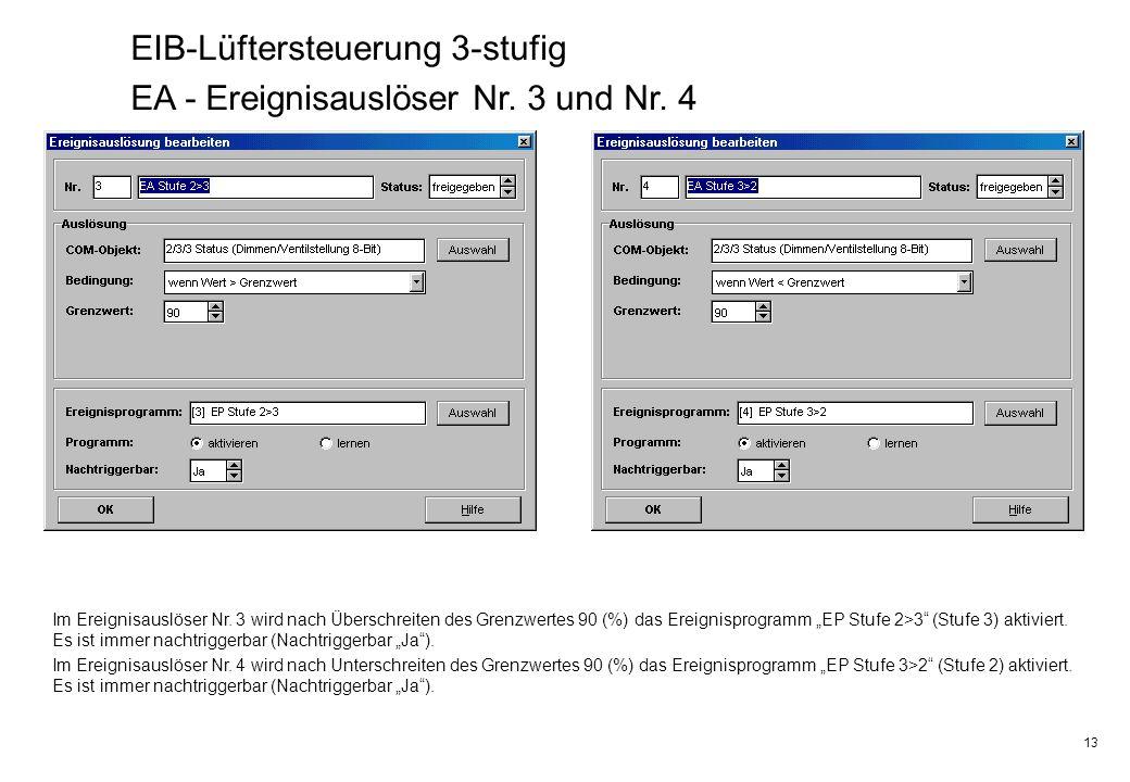 13 EIB-Lüftersteuerung 3-stufig EA - Ereignisauslöser Nr.
