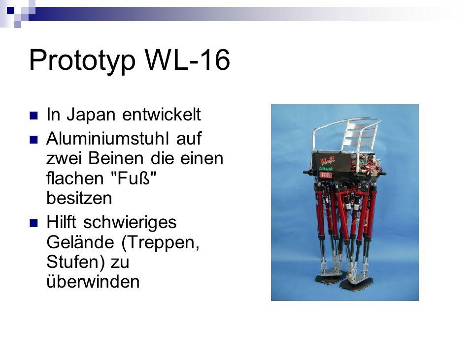 Prototyp WL-16 In Japan entwickelt Aluminiumstuhl auf zwei Beinen die einen flachen