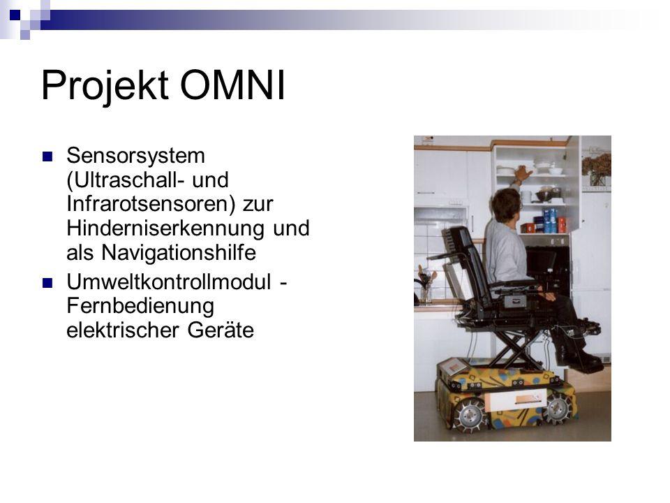 Projekt OMNI Sensorsystem (Ultraschall- und Infrarotsensoren) zur Hinderniserkennung und als Navigationshilfe Umweltkontrollmodul - Fernbedienung elek
