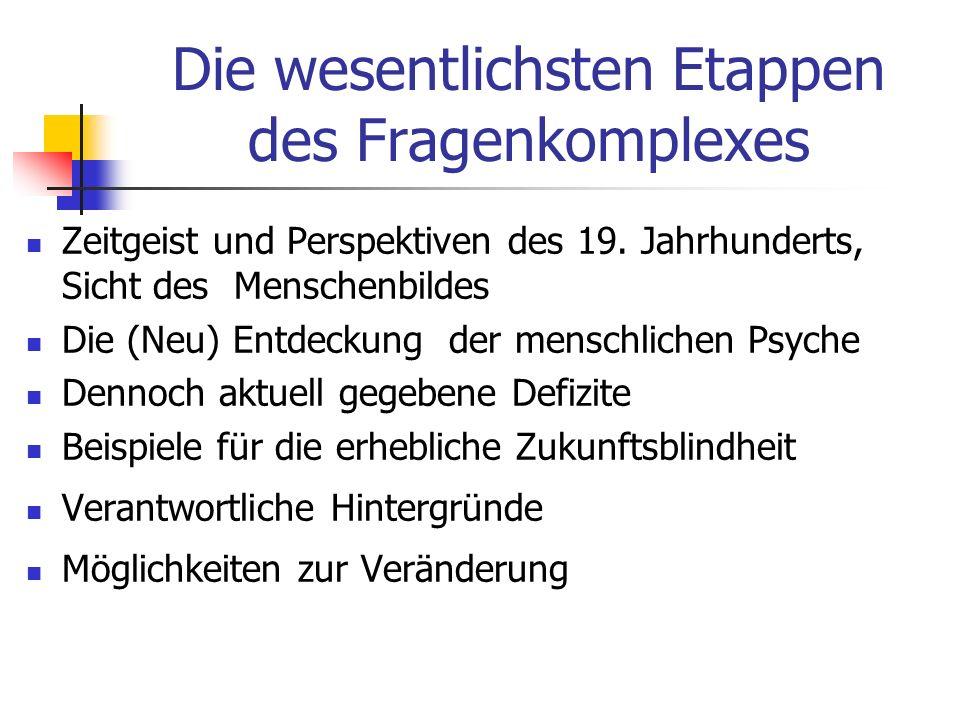 Fortschritte moderner psychiatrischer Krankheitsforschung Entmystifizierung - Verständnis für die Hintergründe psychischer Erkrankungen Schaffung einheitlicher Diagnosekriterien Offenerer Zugang zu psychisch Erkrankten - allerdings noch stark verbesserbar Neue therapeutische Möglichkeiten