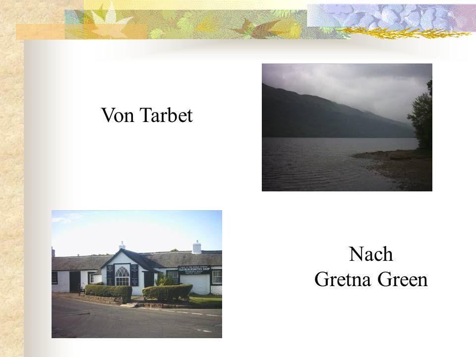 Tarbet, unser Zielort am Loch Lomond. In dieser alten Kirch befindet sich ein Restaurant.
