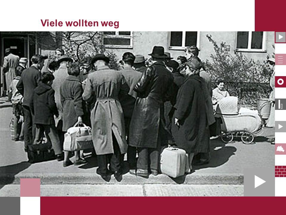 Fluchtbewegung aus der DDR und dem Ostsektor von Berlin 1949-1961 Quelle: Monatsmeldungen des Bundesministeriums für Vertriebene, Flüchtlinge und Kriegsgeschädigte; Jürgen Rühle/Gunter Holzweißig, Der 13.