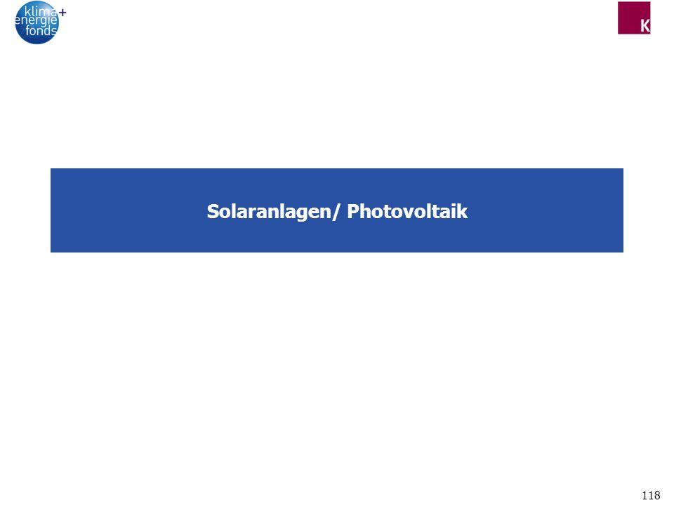 118 Solaranlagen/ Photovoltaik