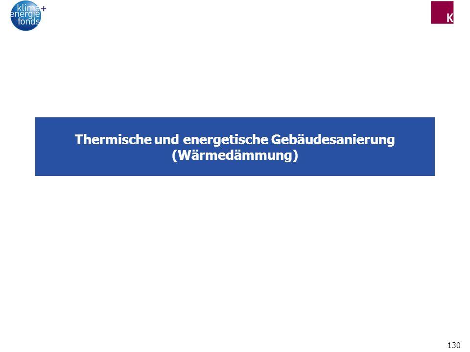 130 Thermische und energetische Gebäudesanierung (Wärmedämmung)