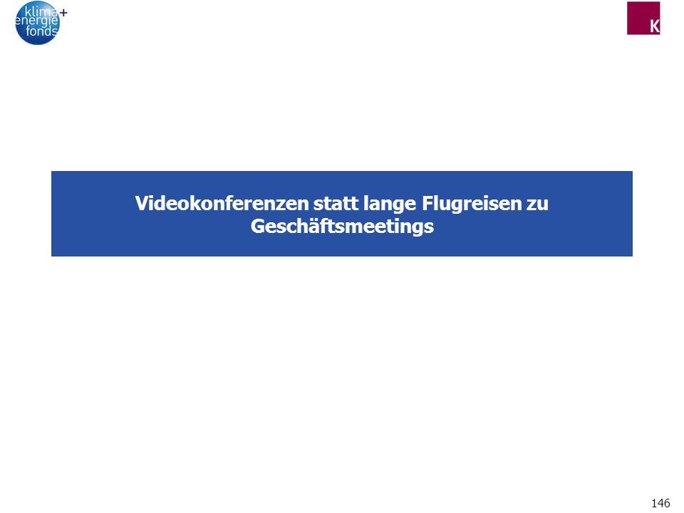 146 Videokonferenzen statt lange Flugreisen zu Geschäftsmeetings