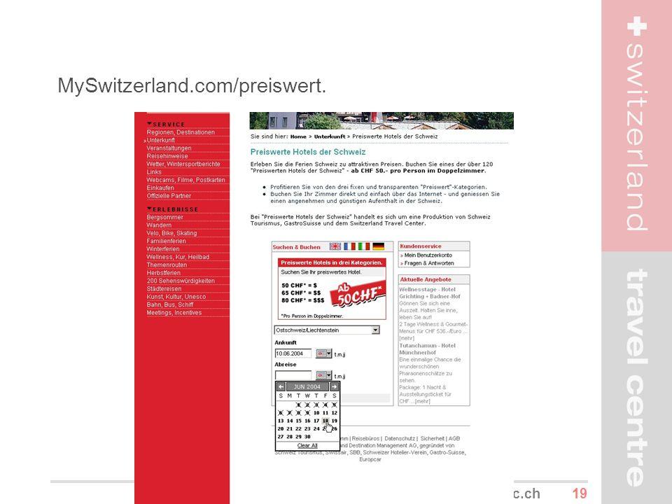 19www.stc.ch MySwitzerland.com/preiswert.