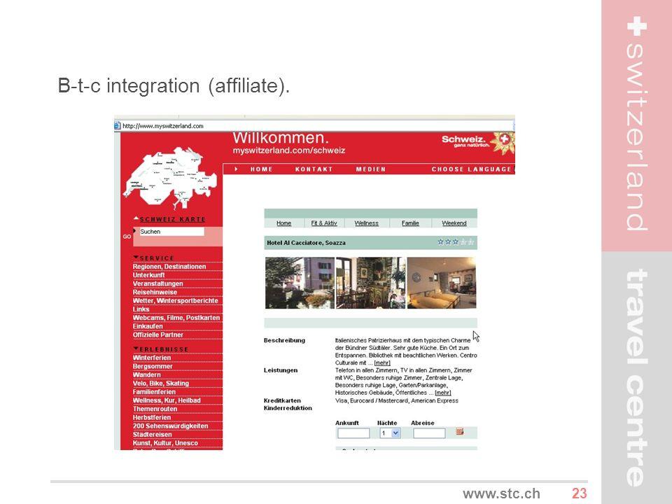 23www.stc.ch B-t-c integration (affiliate).