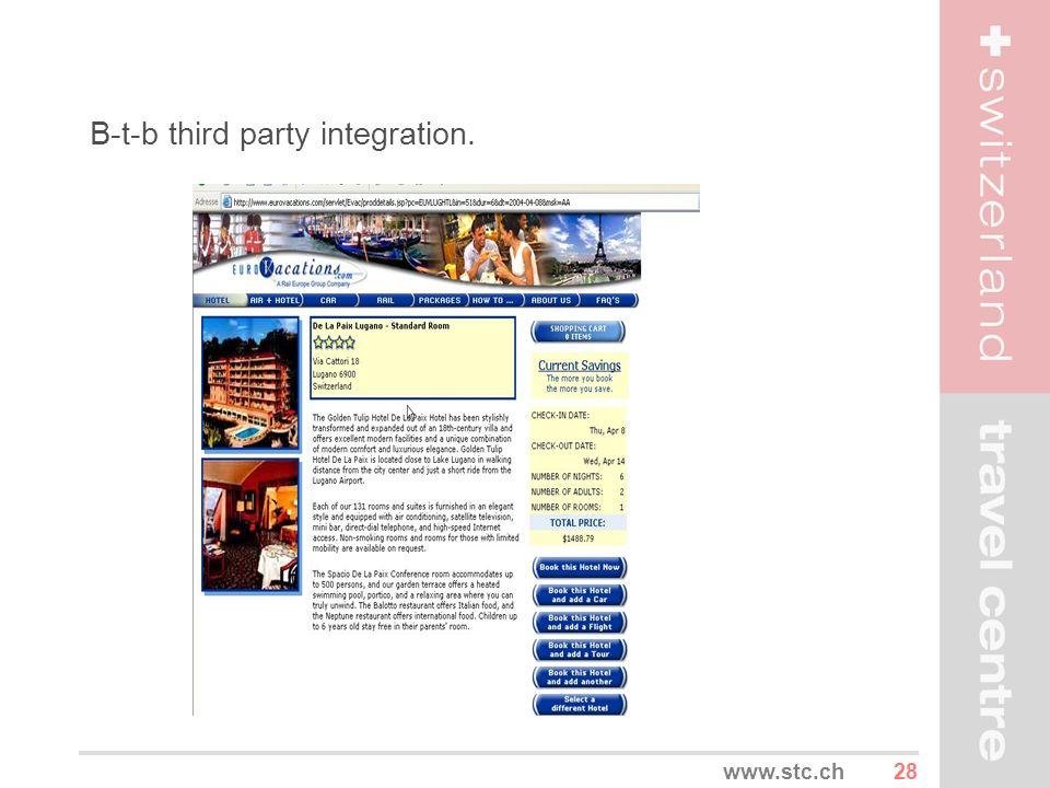 28www.stc.ch B-t-b third party integration.