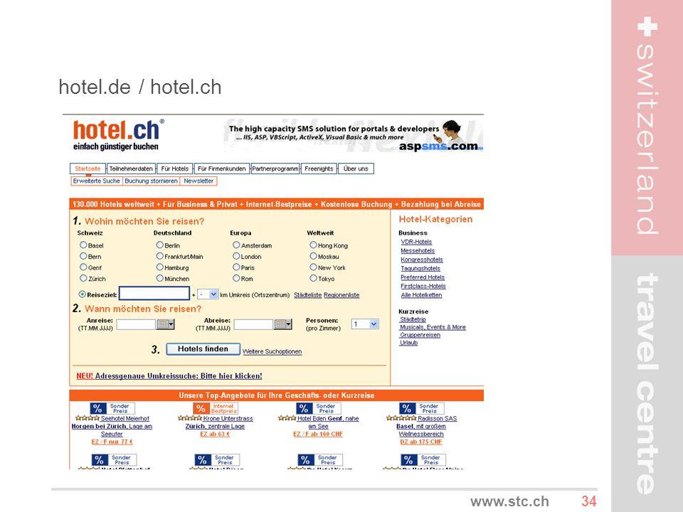 34www.stc.ch hotel.de / hotel.ch