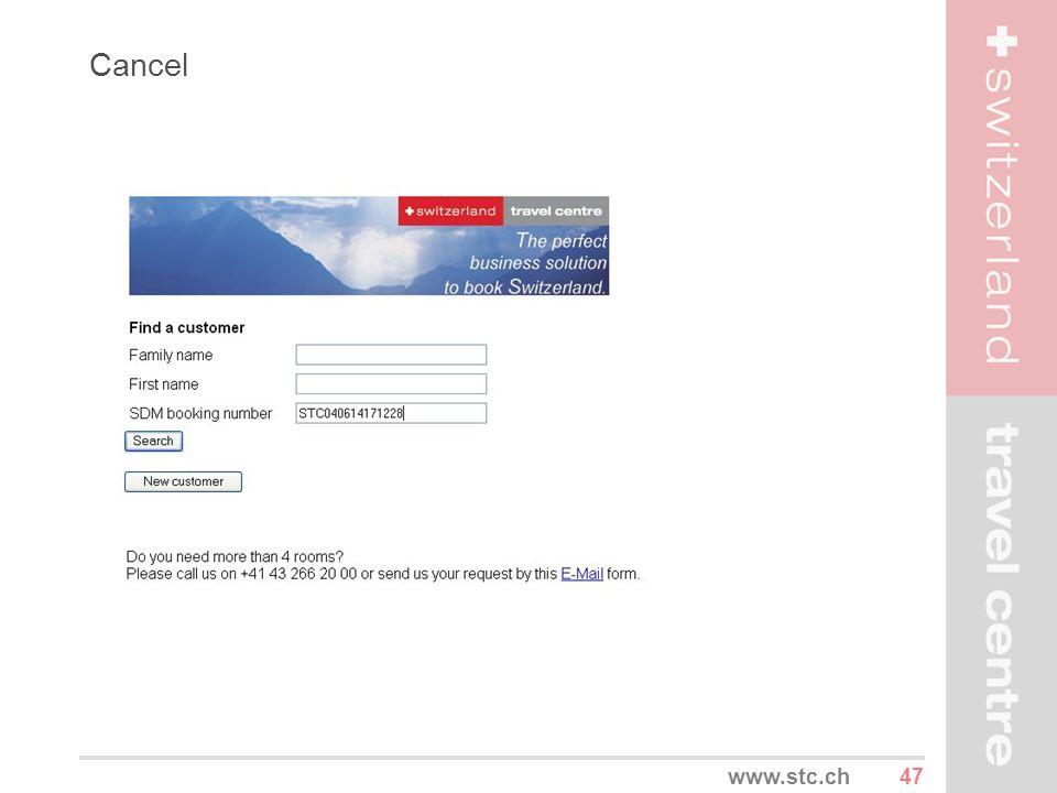 47www.stc.ch Cancel