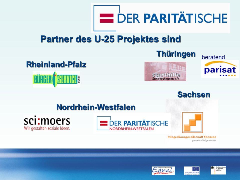 Partner des U-25 Projektes sind Thüringen Sachsen Rheinland-Pfalz Nordrhein-Westfalen beratend