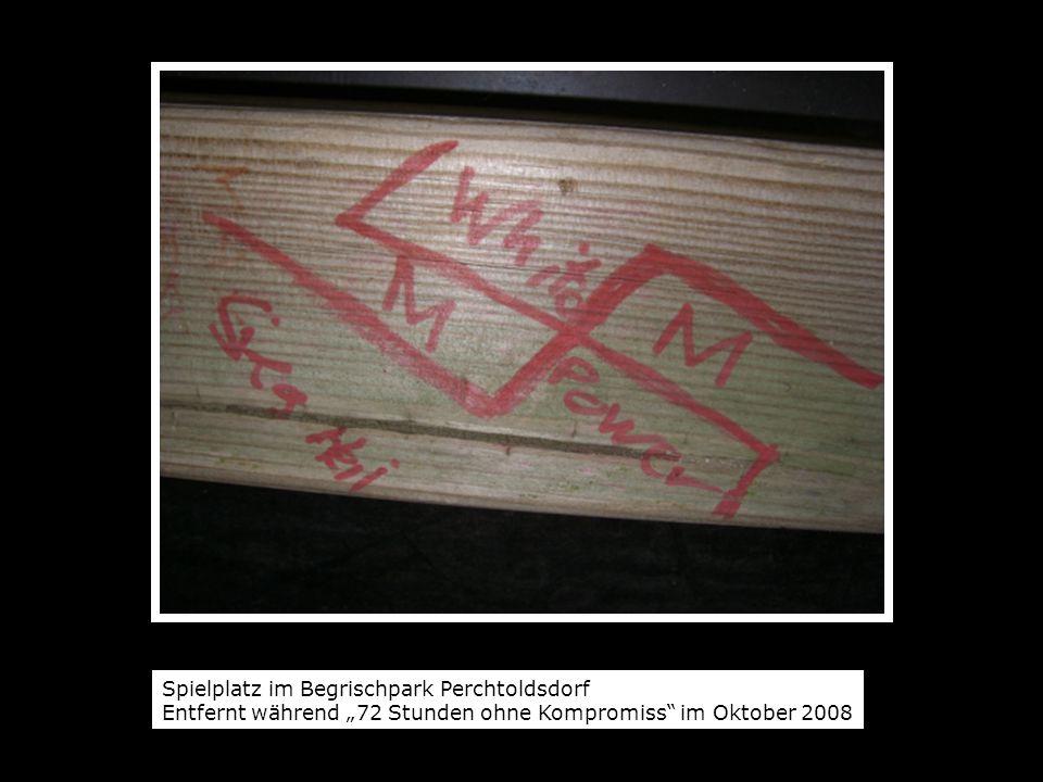 Spielplatz im Begrischpark Perchtoldsdorf Entfernt während 72 Stunden ohne Kompromiss im Oktober 2008