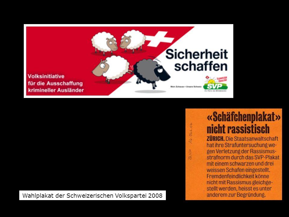 Wahlplakat der Schweizerischen Volkspartei 2008
