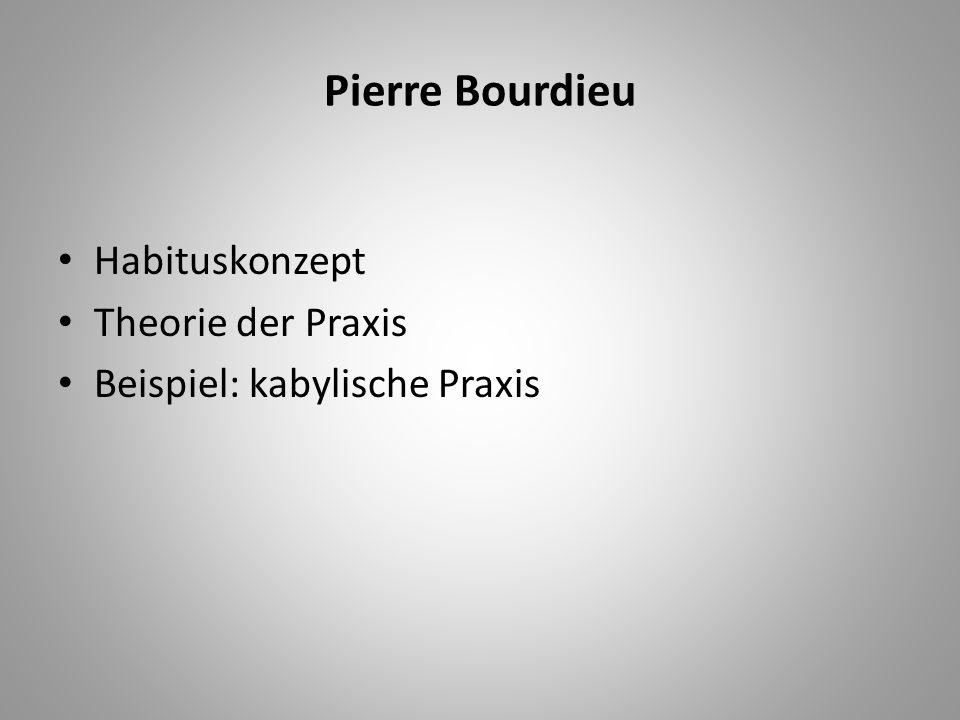 Pierre Bourdieu Habituskonzept Theorie der Praxis Beispiel: kabylische Praxis