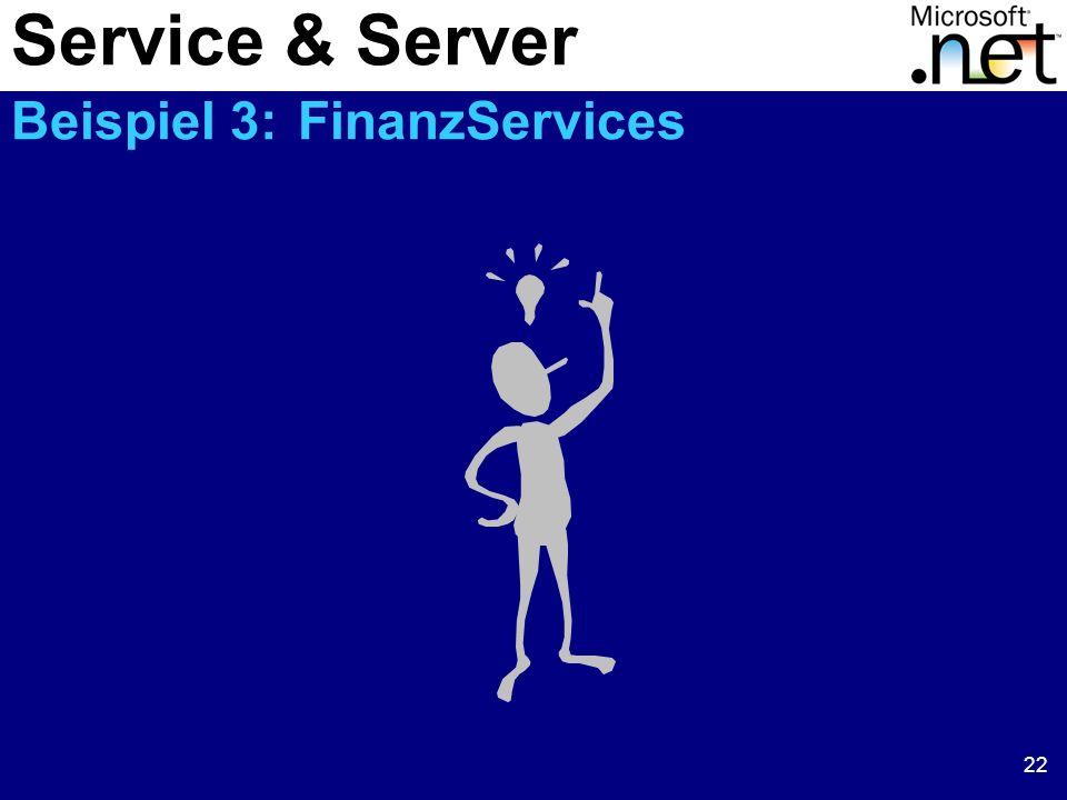 22 Service & Server Beispiel 3: FinanzServices