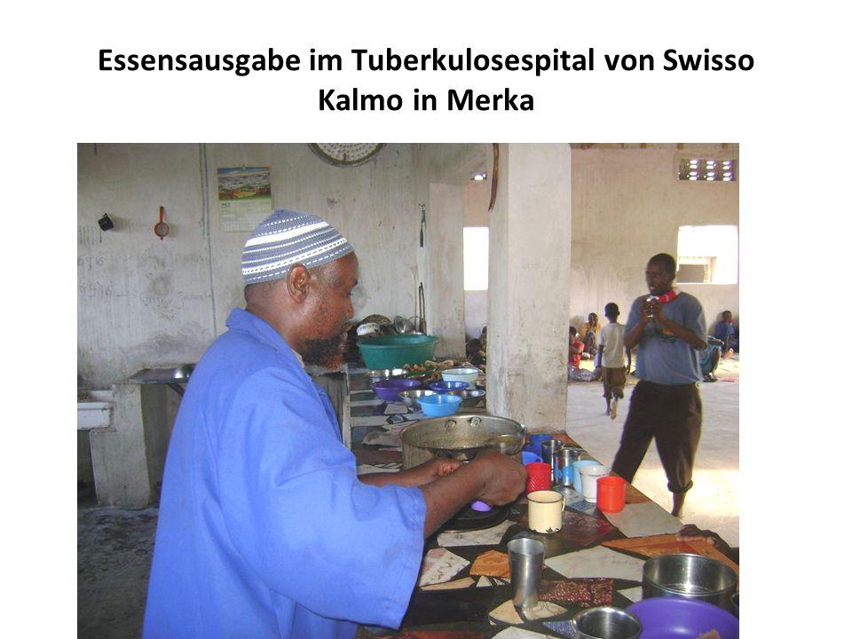 Essensausgabe im Tuberkulosespital von Swisso Kalmo in Merka