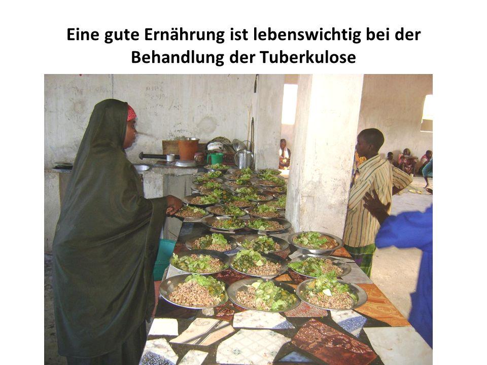 Eine gute Ernährung ist lebenswichtig bei der Behandlung der Tuberkulose