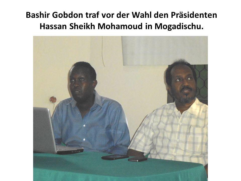 Bashir Gobdon traf vor der Wahl den Präsidenten Hassan Sheikh Mohamoud in Mogadischu.