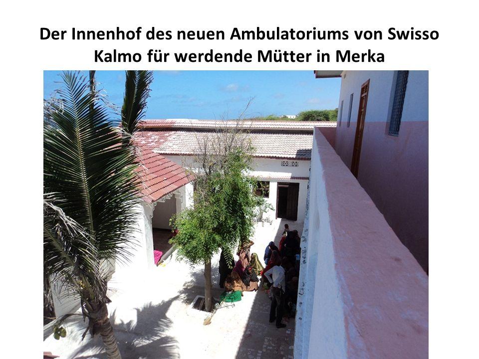 Der Innenhof des neuen Ambulatoriums von Swisso Kalmo für werdende Mütter in Merka
