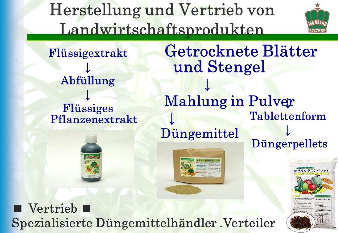 Herstellung und Vertrieb von Landwirtschaftsprodukten Flüssigextrakt Abfüllung Flüssiges Pflanzenextrakt Vertrieb Spezialisierte Düngemittelhändler.Ve