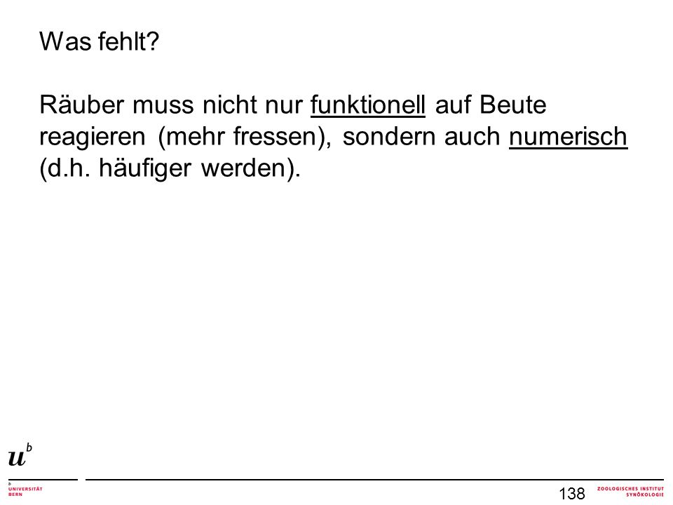 Was fehlt.