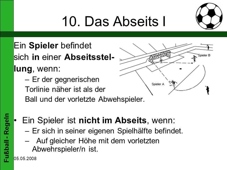 Fußball - Regeln 05.05.2008 10.